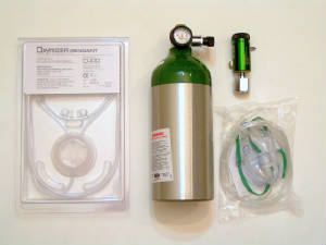 Aviation Oxygen Systems Basic CGA-540 with Oxymizer Cannulas